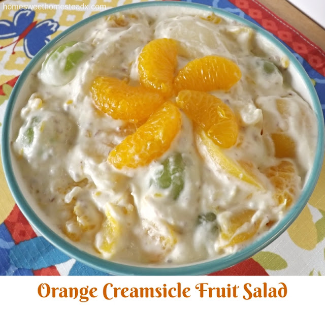 Orange Creamsicle Fruit Salad - Home Sweet Homestead