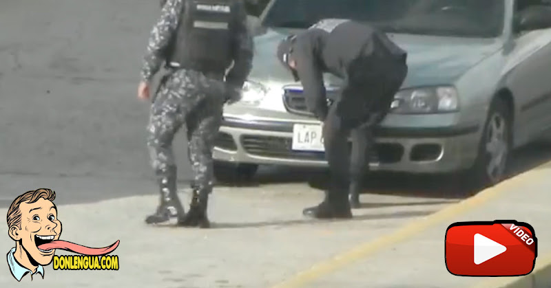 Funcionarios de la PNB robando matrículas de vehículos en la cola de la gasolina
