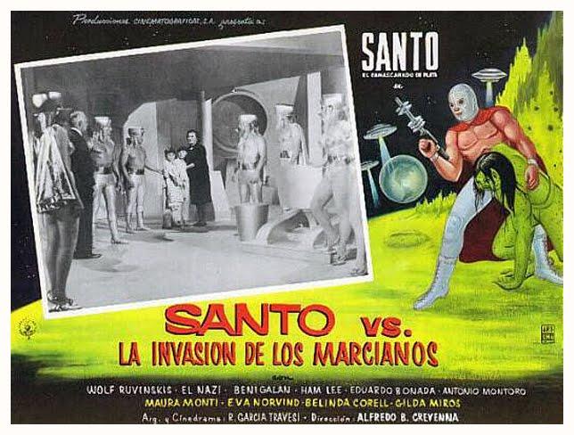 Santo vs The Martian Invasion Movie Poster 1967