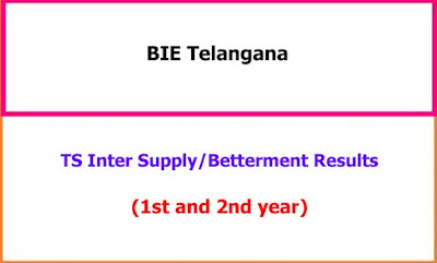 TS Inter Supplementary Exam Results