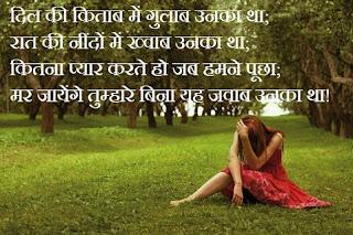 love shayari in hindi for girlfriend 100 words