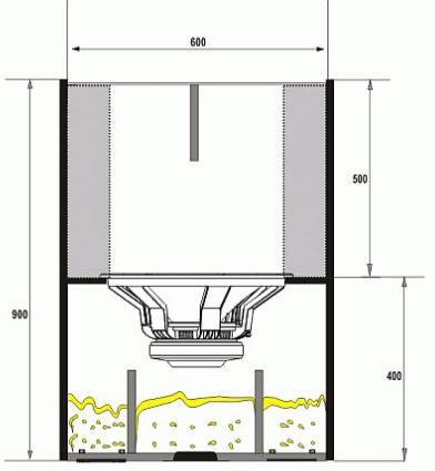Box speaker planar horn 18 inch tampak samping