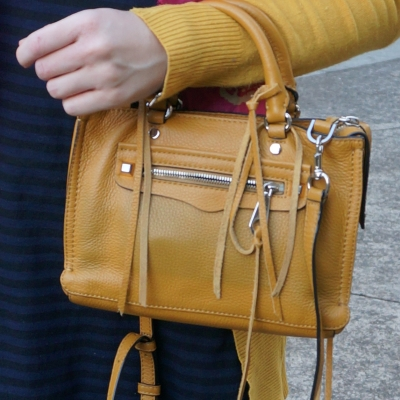Rebecca Minkoff micro Regan satchel in Harvest Gold | awayfromtheblue