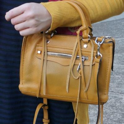 Rebecca Minkoff micro Regan satchel in Harvest Gold | awayfromtheblue