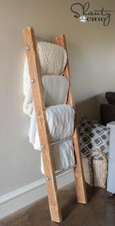 DIY Towel Ladder
