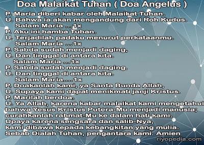 Doa Malaikat Tuhan ( Angelus )