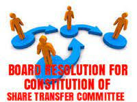 Board-Resolution-formation-Share-Transfer-Committee
