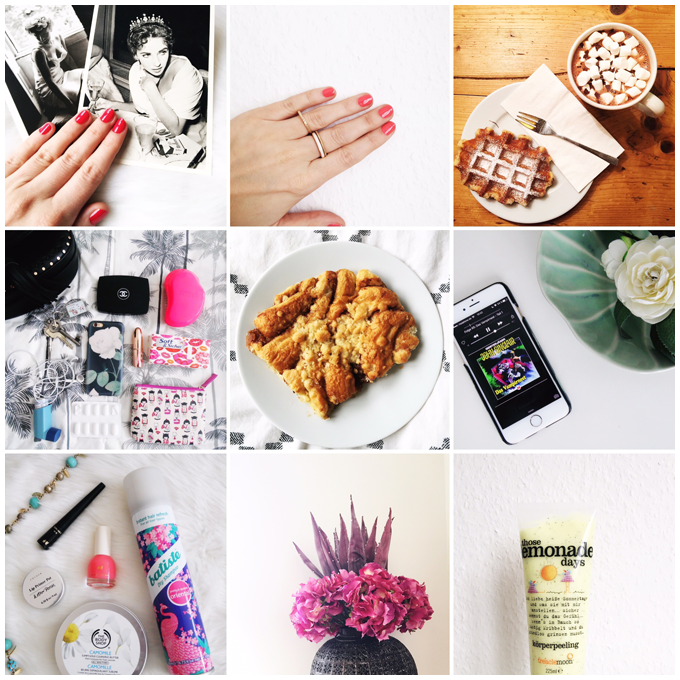 monthly recap | march 2016 | instagram favorites | more details on my blog http://junegold.blogspot.de | life & style diary from hamburg | #monthlyrecap #march #march2016 #spring #hamburg #beauty #nails #food