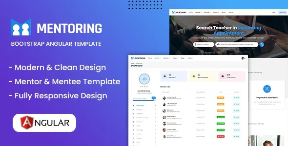 Best eLearning, Learning management system & Mentor Booking Angular Template
