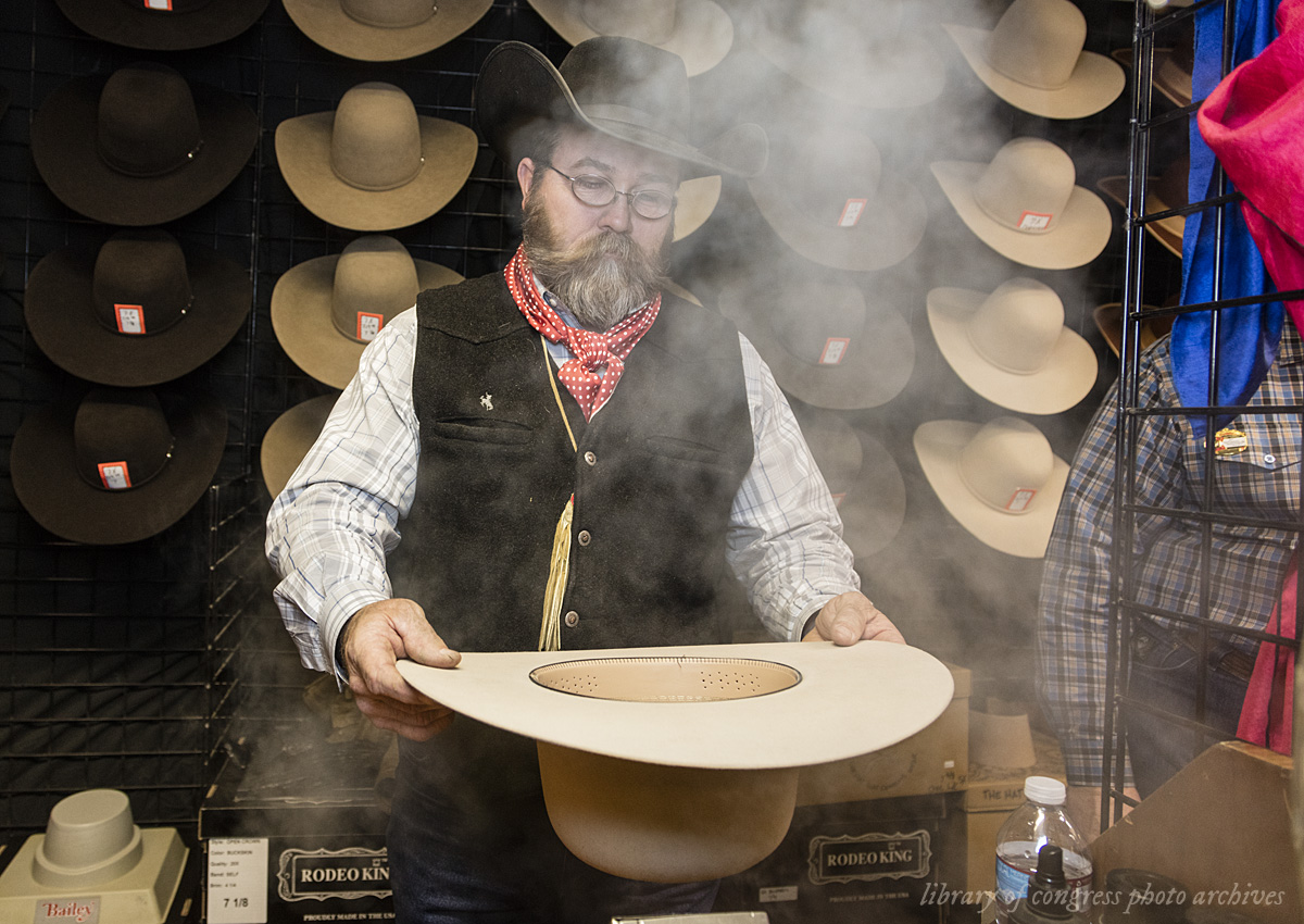 steaming and shaping western hat