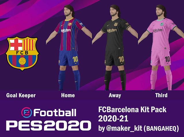 PES 2020 Barcelona 20-21 Kit Set by @maker_kit
