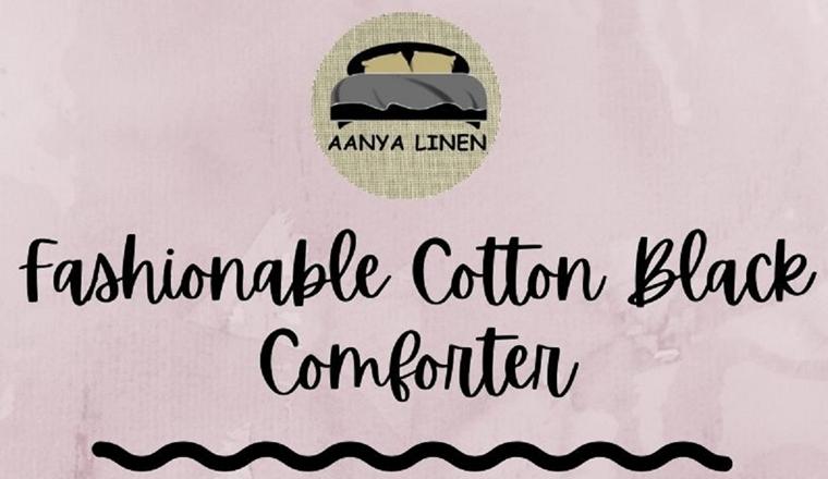 Fashionable Cotton Black Comforter #infographic