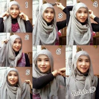 Tutorial cara memakai hijab segi empat ke sekolah
