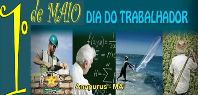 Convite! Festa do Trabalhador dia 1º de Maio em Anapurus