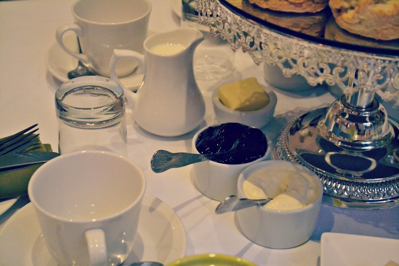 Cream tea at harington house Bath