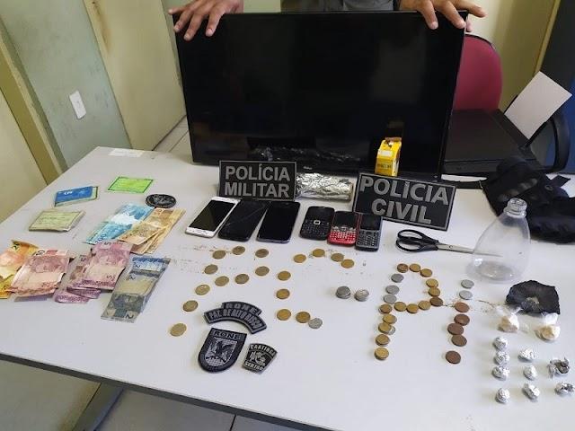 Casal é preso por tráfico de drogas e receptação de furto no Piauí