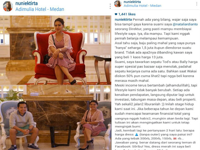 Nuniek Tirta, Istri Direktur yang Bikin Heboh Netizen karena Pakai Baju Rp 50 Ribuan