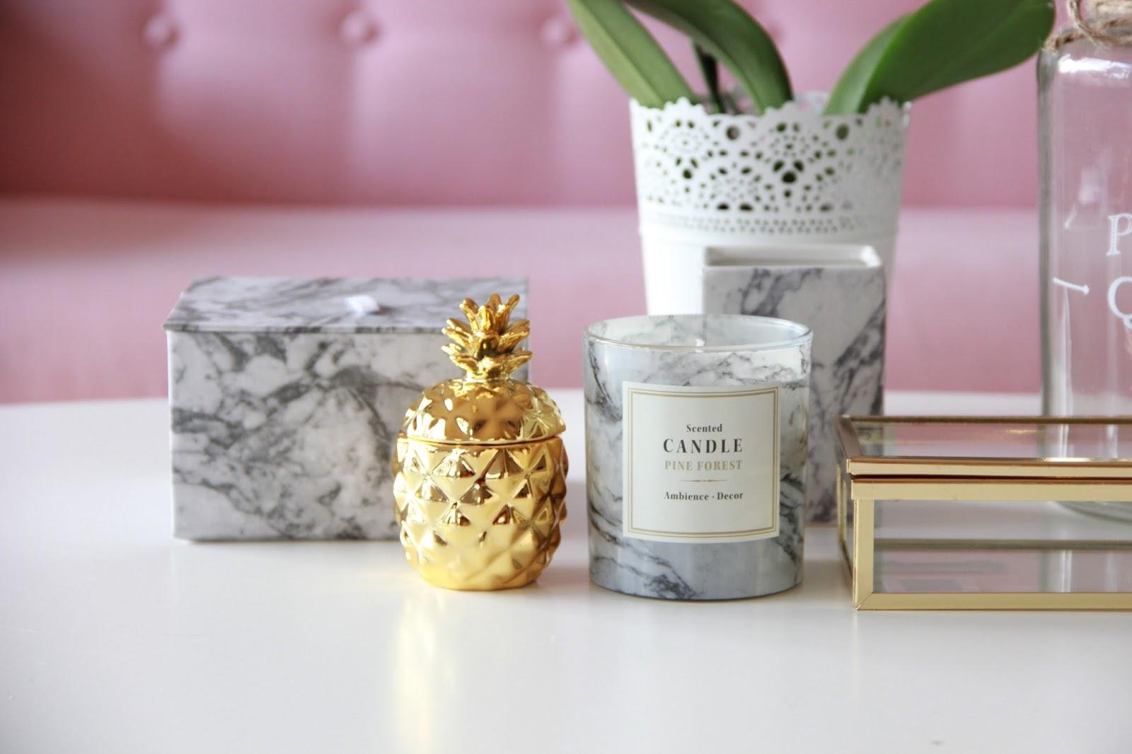 deco rose gold et marbre. Black Bedroom Furniture Sets. Home Design Ideas
