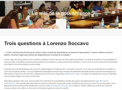 Lorenzo Soccavo dans le Wiki de la gouvernance