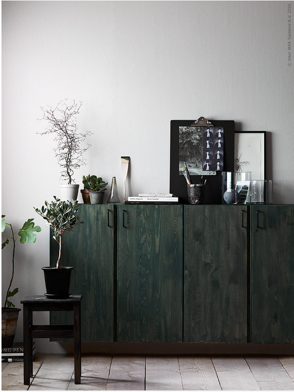 DIY Stained Floating Credenza The Classic IVAR Cabinets Are A Popular DIY  Favorite Of Sustainable Wood. We Love This Mix Of Two Stains.