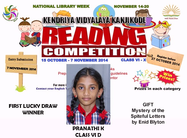 Reading Competition - First Lucky Draw Winner