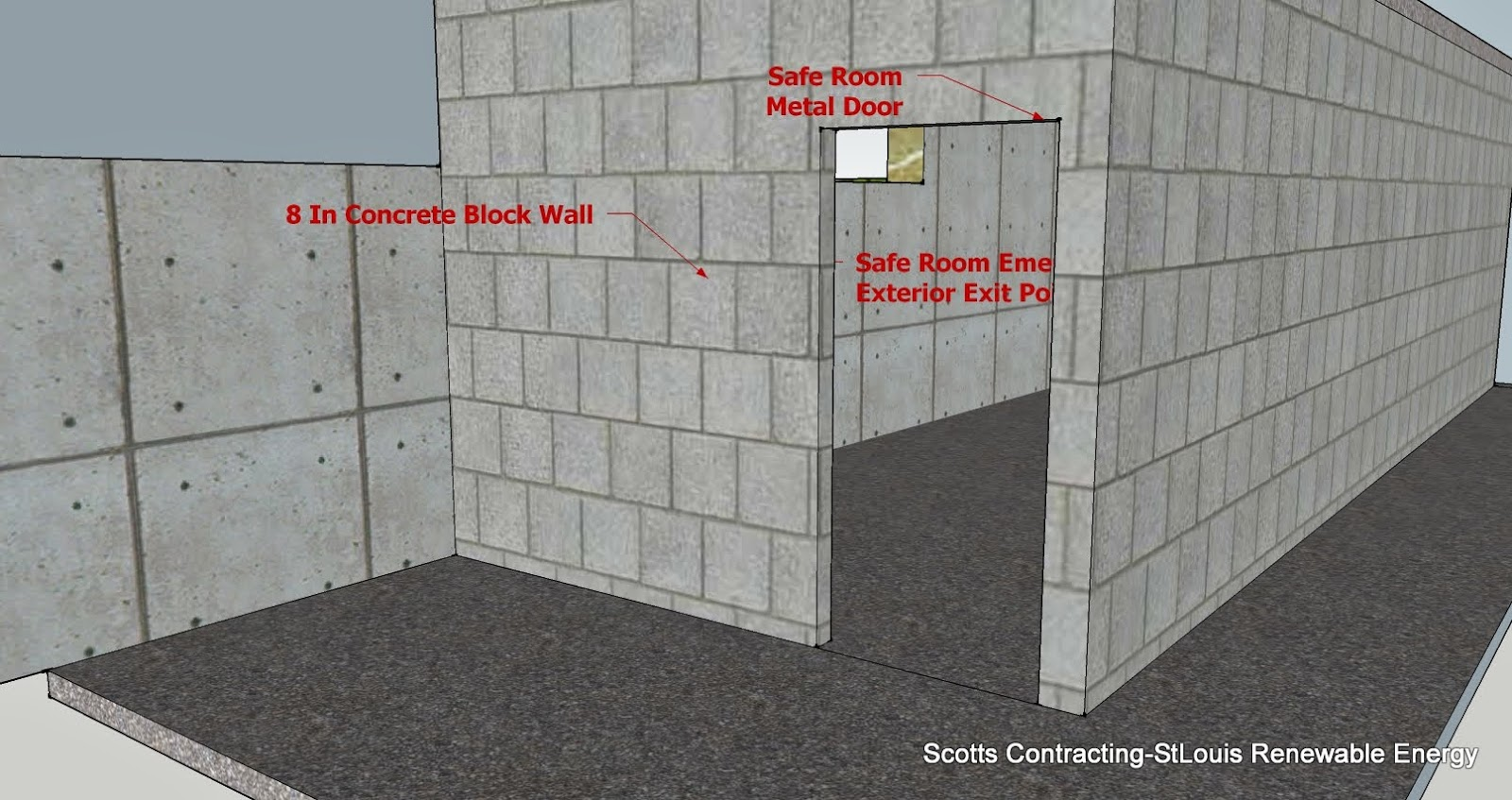 Stlouis renewable energy tornado safe room design for Safe rooms