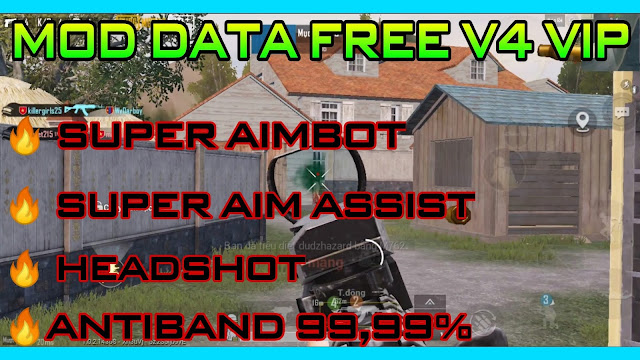 MOD DATA VIP FREE V4 PUBG MOBILE 1.0.2 | SUPPER AIMBOT + AUTO HEADSHOT + NO FOG + MAGIC BULLET | ANTIBAND 100% BY HQT LAG