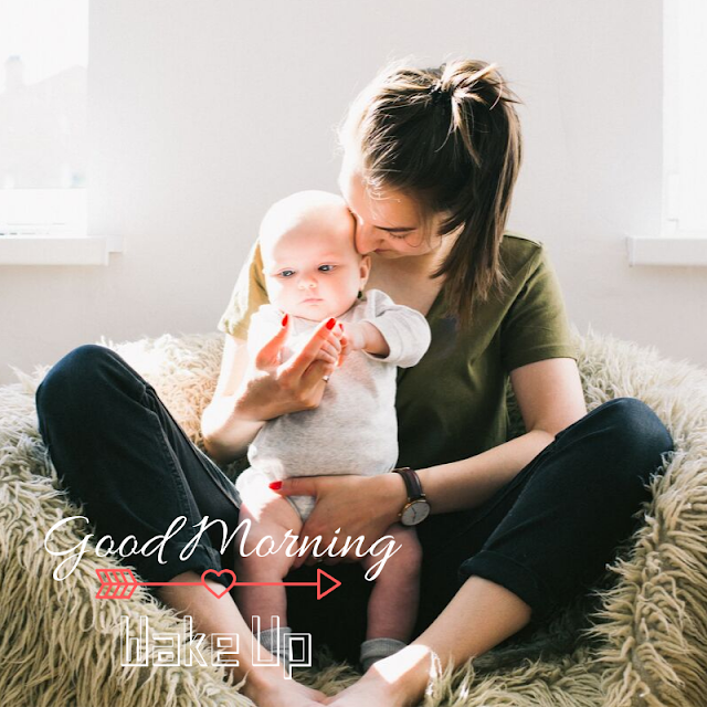 laughing Baby With Mother Good Morning Images