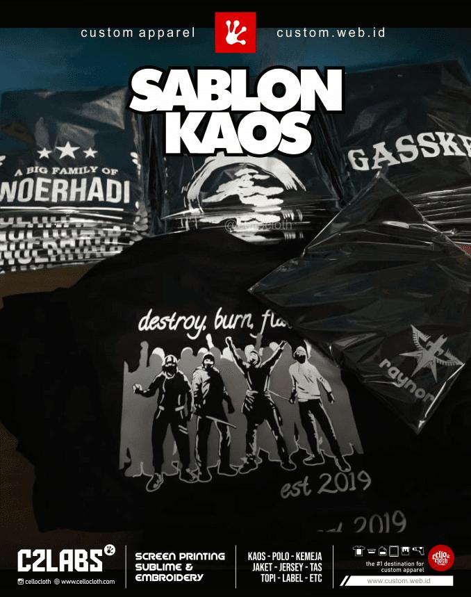 Bikin Kaos Sablon Komunitas Custom Screen Printing Jogja