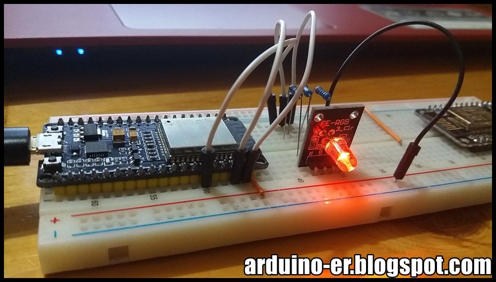 Arduino-er: Arduino core for ESP32, output PWM to GPIO using