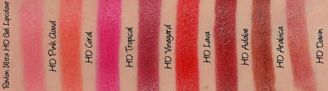 Revlon Ultra HD Gel Lipcolors Swatches & Review