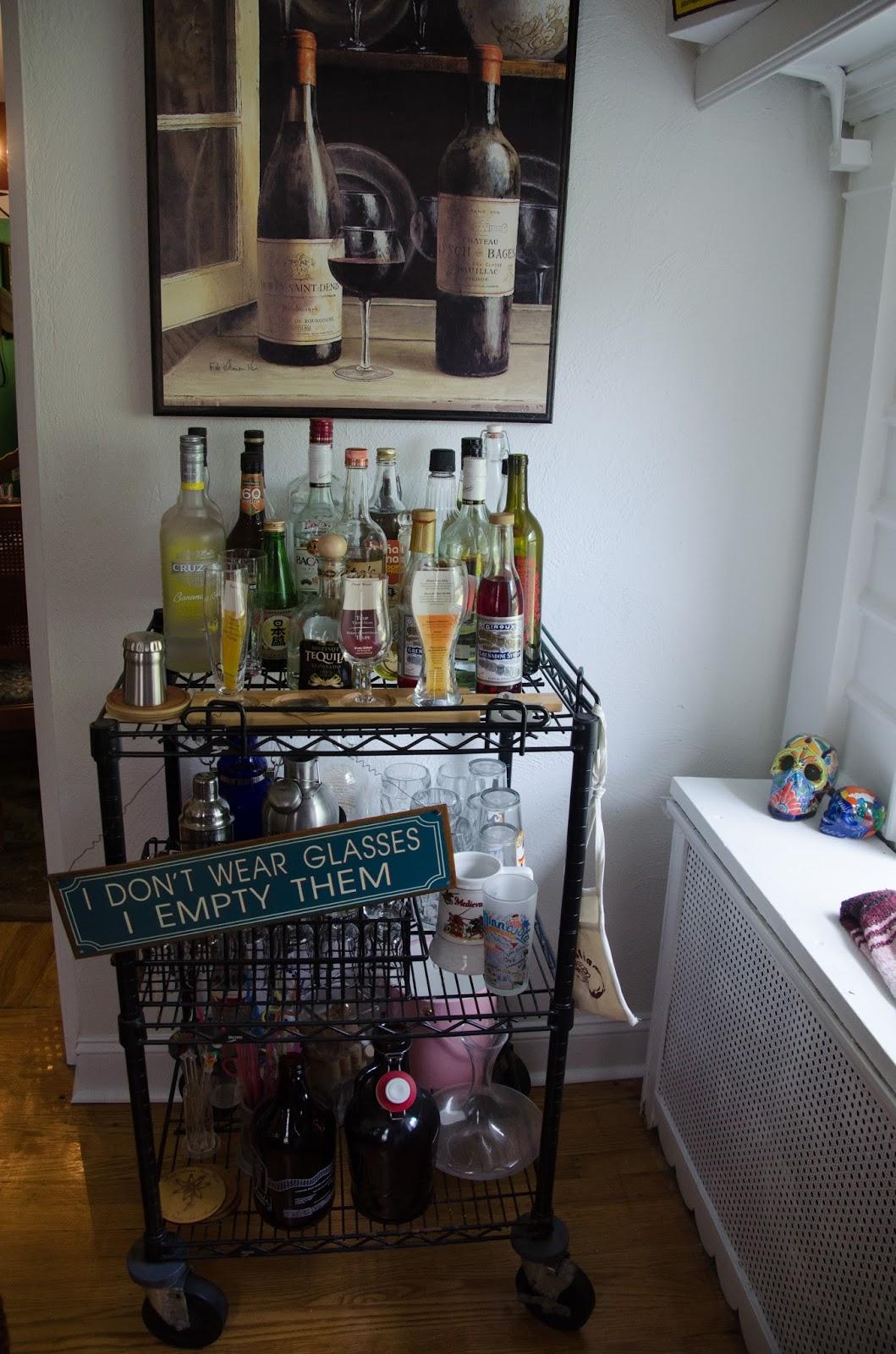 Behind The Leopard Glasses Bar Cart Essentials