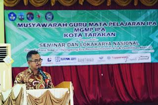 Wali Kota Tarakan Menghadiri Sekaligus Membuka Secara Resmi Seminar Nasional Pendidikan - Tarakan Info