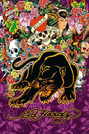 Kitsch is kitsch - Ed hardy designs wallpaper ...