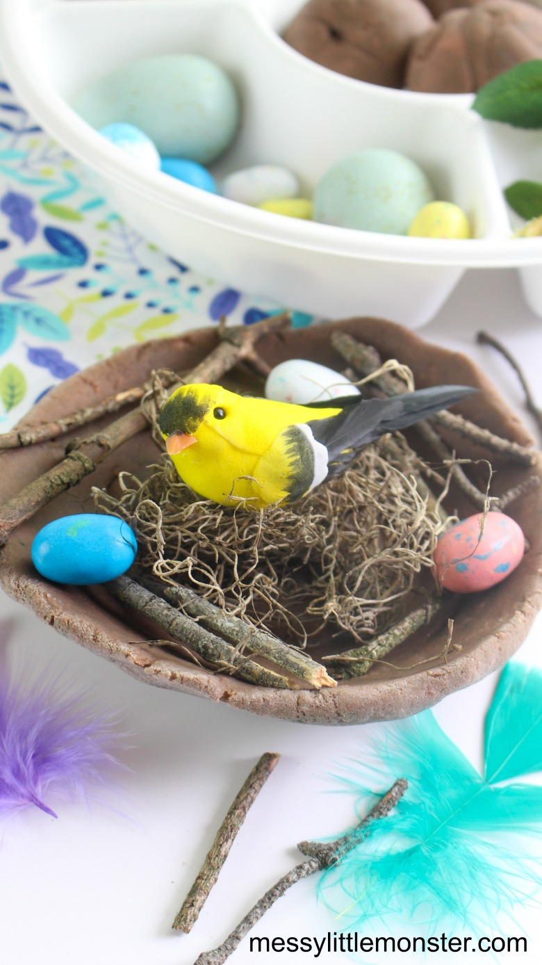 bird nest playdough activity