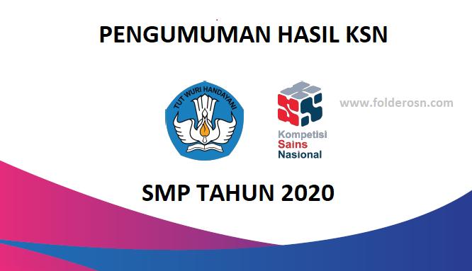 Pengumuman KSN SMP 2020