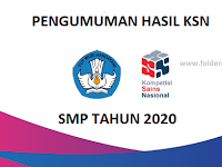 Pengumuman Hasil KSN SMPN 1 TUBAN 2020