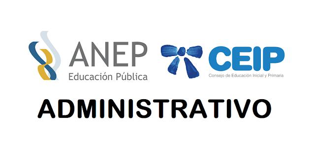 ADMINISTRATIVO - ANEP - Consejo de Educación Primaria