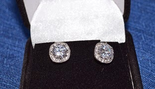 orrous legacy 18k Gold Plated Cubic Zirconia Cushion Shape Stud Earrings 2