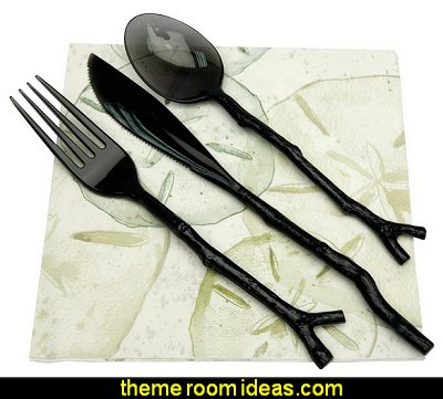 Twig Design Cutlery  kitchen accessories - fun kitchen decor - decorative themed kitchen  - novelty mugs - kitchen wall decals - kitchen wall quotes - cool stuff to buy - kitchen cupboard contact paper -  kitchen storage ideas - unique kitchen gadgets - food pillows