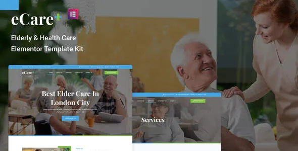 Best Elderly & Health Care Elementor Template Kit