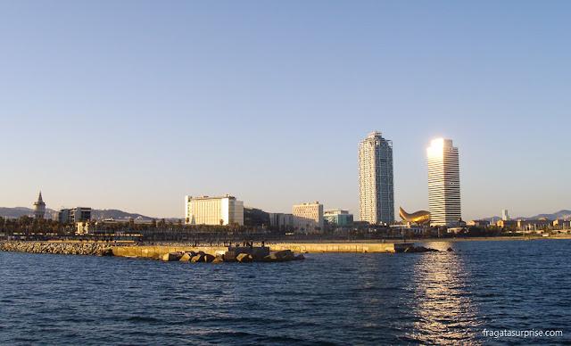 Barcelona vista do mar