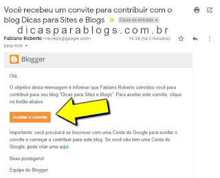 convite para ser autor do blog