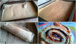 Руло с мармалад от сини сливи - рецепта