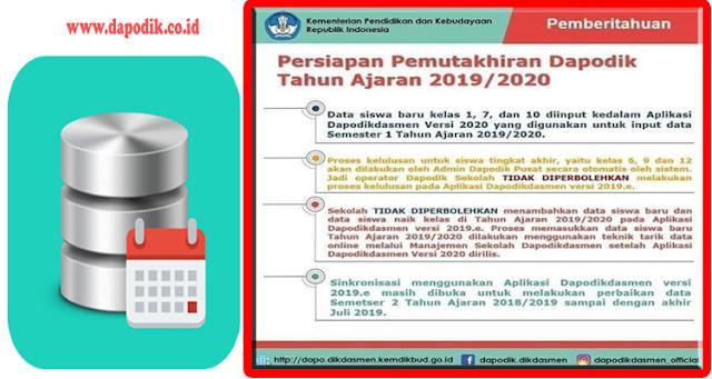 Penting Untuk Diketahui Dihimbau Tidak Boleh Proses Kelulusan Melalui Dapodik Versi 2019 e Pada Tahun Ajaran 2019/2020
