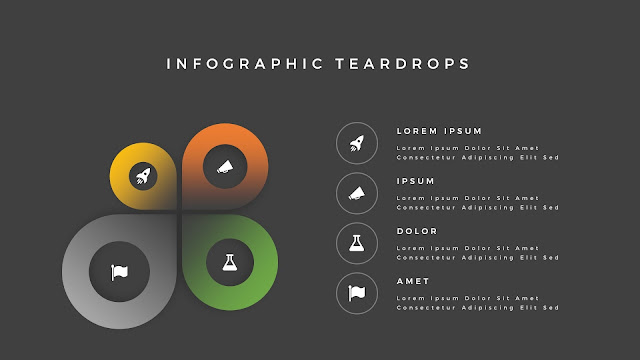 Infographic Teardrop elements for PowerPoint Slide 12