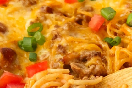 Cheesy Taco Spaghetti Casserole Recipe