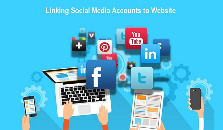 Linking Social Media Accounts to Website
