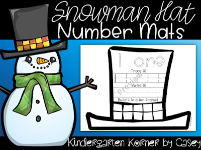 Number Writing Winter Resources