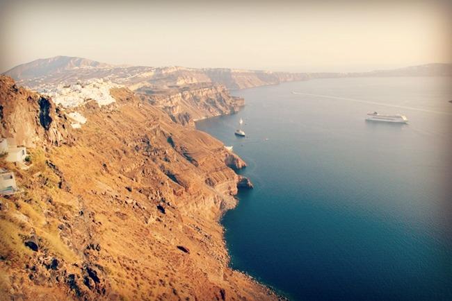 Santorini ostrvo pejsazi